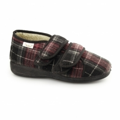 ANNIE Ladies Full Slippers Burgundy