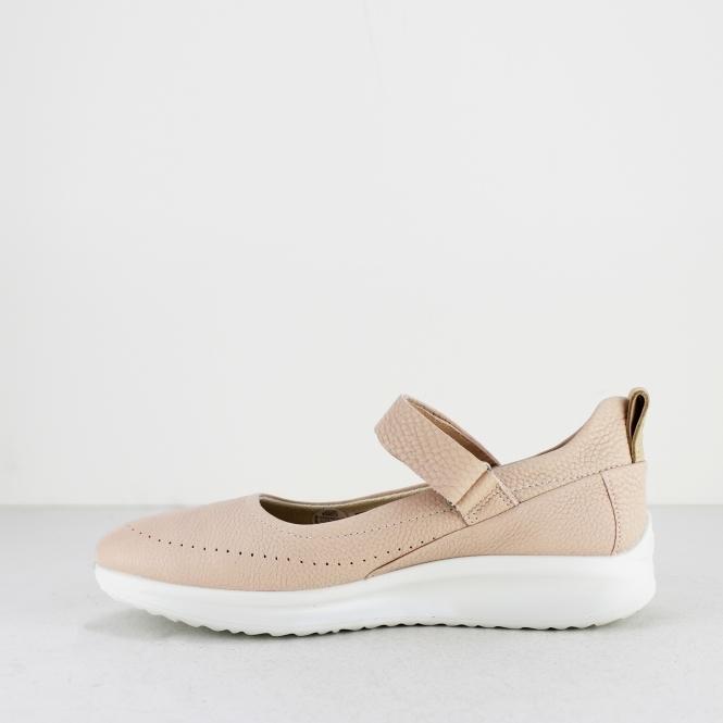 d9439e87871e ECCO AQUET Ladies Leather Mary Jane Shoes Rose Dust Pink