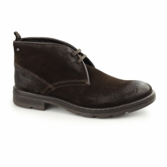 ARCHER Mens Greasy Suede Chukka Boots Brown