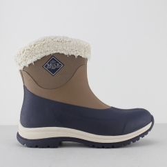 ARCTIC APRES Ladies Slip On Winter Boots Otter/Total Eclipse