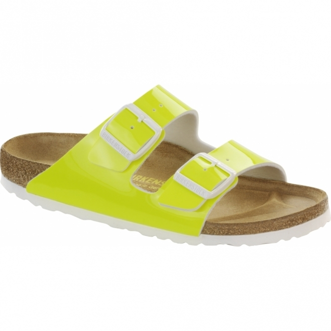 Birkenstock ARIZONA Ladies Buckle Sandals Neon Yellow