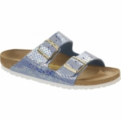 ARIZONA Ladies Mule Buckle Sandals Snake Sky