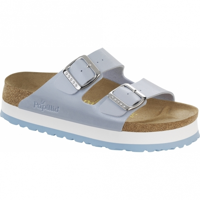 Papillio By Birkenstock ARIZONA Ladies Platform Sandals Graceful Blue