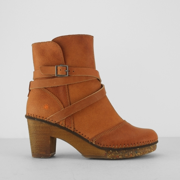 Mehndi Ankle Boots : Art amsterdam ladies leather heeled ankle boots zip brown