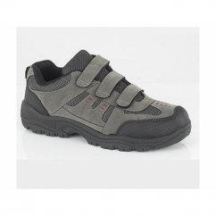 ASCEND Mens Triple Velcro Padded Trail Shoes Grey/Black