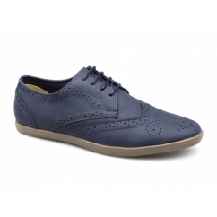 ASHCROFT 2 Mens Lace Up Brogue Shoes Navy