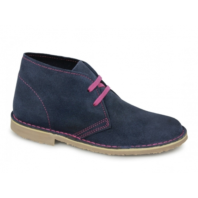 Cotswold ASHLEY Womens 2 Eyelet Desert Boots Denim