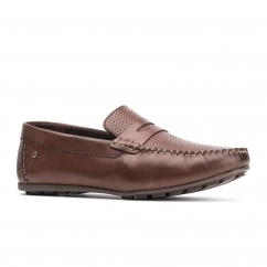 Base London ATTWOOD Mens Leather Loafers Brown