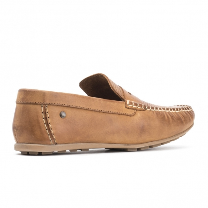 Base London Pilotes En Cuir Attwood En Tan Tan - 2fAEm6
