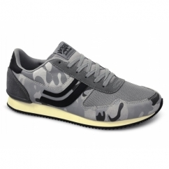 AVENUE CAMOUFLAGE Mens Trainers Neutral Grey