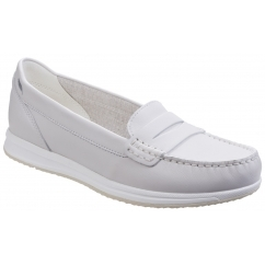 GEOX AVERY C Ladies Leather Casual Penny Loafers Off White