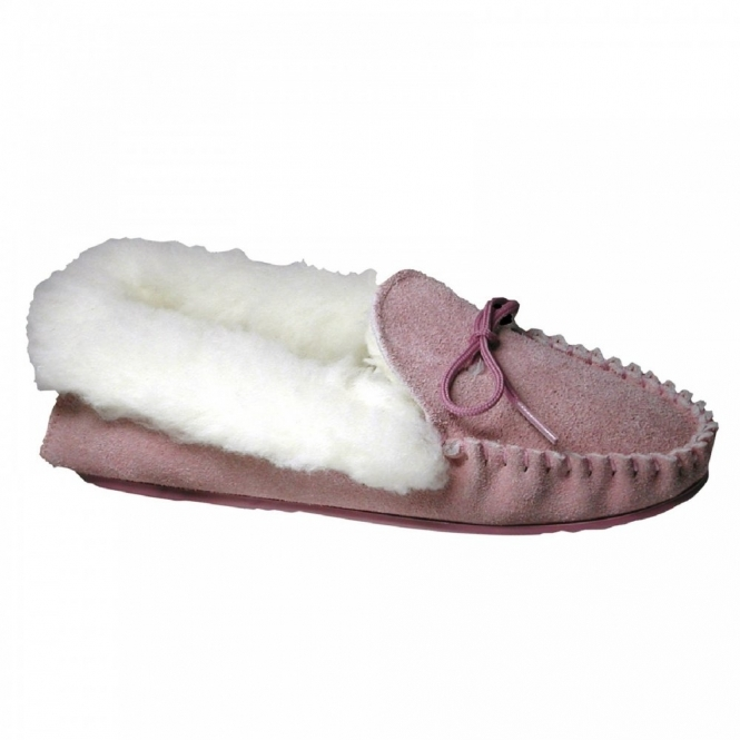Mirak AVON Ladies Moccasin Slippers Pink