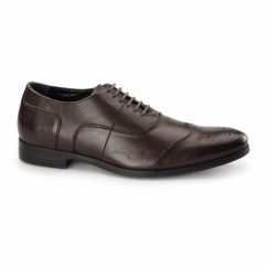 MESSINA 2 Mens Leather Oxford Brogues Brown