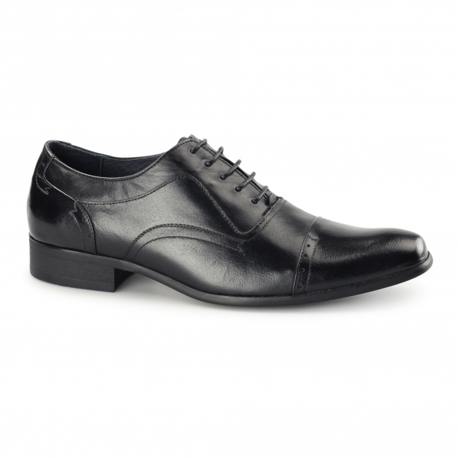 Azor PADOVA Mens Leather Oxford Shoes Black