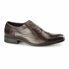 PADOVA Mens Leather Oxford Shoes Brown