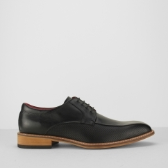 PALAZZO Mens Leather Derby Shoes Black