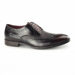 PALETTA Mens Leather Derby Brogues Burgundy