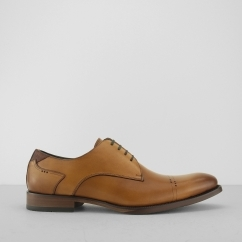 AZOR SALERMO Mens Quality Leather Derby Shoes Tan