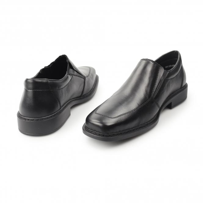 fa4e6df7ab1 Rieker B0875 Mens Leather Extra Wide Shoes Black