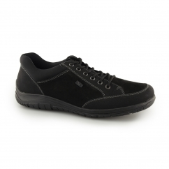 Rieker B6501-00 Mens Faux Leather Lace Up Casual Shoes Black