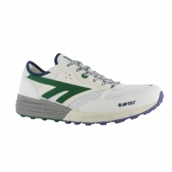 BADWATER Mens Sports Trainers White/Evergreen/Purple