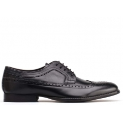 Base London BAILEY Mens Leather Derby Lace Up Shoes Black
