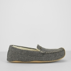 Barbour BETSY Ladies Warm Lined Slip On Moccasin Slippers Grey