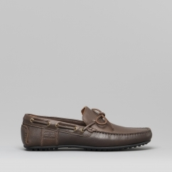 f809a052449a ELDON Mens Leather Driving Loafers Brown Texas