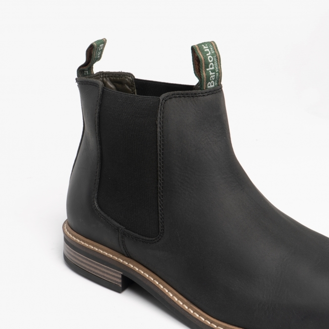 00437dbad12 FARSLEY Mens Leather Chelsea Boots Black