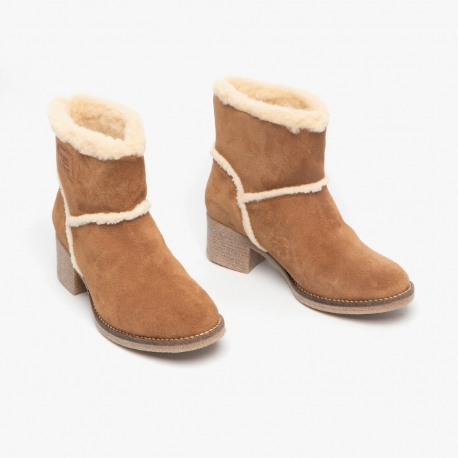 50% price discount price shop for FRANKIE Ladies Suede Ankle Boots Cognac