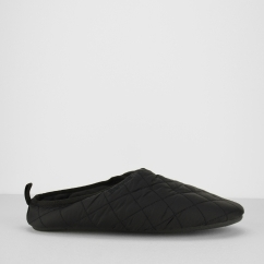 Barbour GUTHRIE Mens Mule Slippers Quilted Black