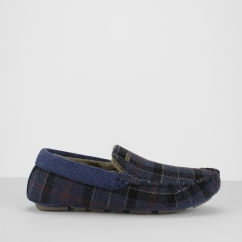 Barbour MONTY THINSULATE Mens Moccasin Slippers Tartan