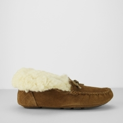 Barbour PATSY Ladies Bootie Moccasin Slippers Camel