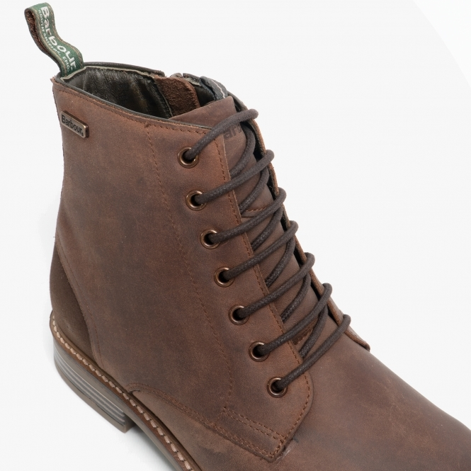 Barbour SEAHAM Mens Leather Derby Boots Timber Tan   Shuperb