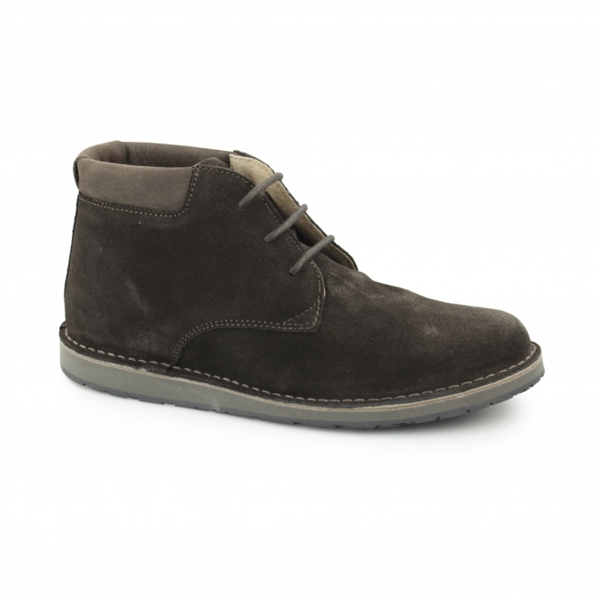 Hush Puppies BARRICANE Mens Suede Desert Boots Chocolate