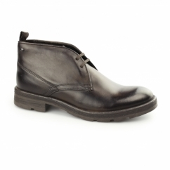 Base London ARCHER Mens Washed Leather Chukka Boots Brown