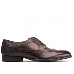 Base London BAILEY Mens Leather Derby Lace Up Shoes Brown | Shuperb