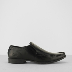 Base London CARNOUSTIE Mens Leather Loafers Black
