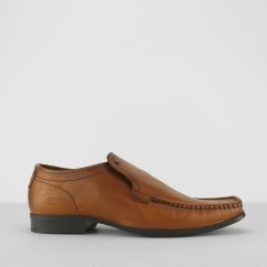 Base London CARNOUSTIE Mens Leather Loafers Tan Brown