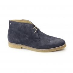 Base London CHARLTON Mens Suede Desert Boots Navy