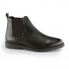 Base London FERDINAND Mens Leather Chelsea Boots Washed Brown