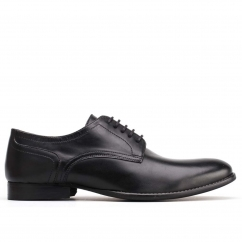 Base London FORD Mens Waxy Leather Lace Up Derby Shoes Black