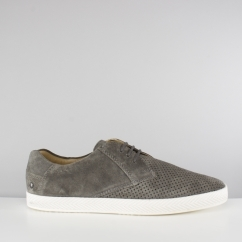 Base London KEEL Mens Suede Casual Shoes Grey