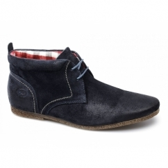 LATTE Mens Oily Suede Chukka Boots Navy