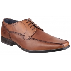 Base London LYTHAM Mens Waxy Leather Formal Shoes Tan
