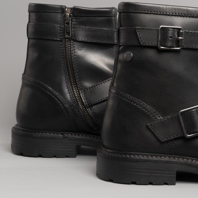 fd0e2513109 ORTIZ Mens Leather Buckle Boots Waxy Black