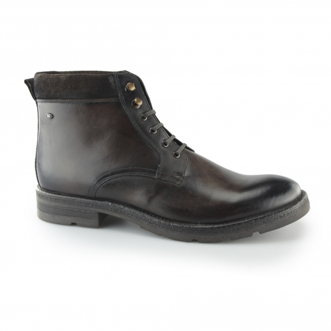 separation shoes f0e22 ca34a PANZER Mens Leather Casual Boots Brown