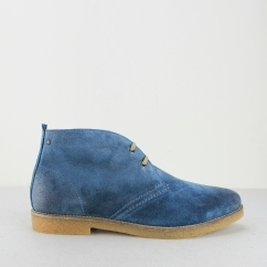 Base London PERRY Mens Burnished Suede Desert Boots Blue