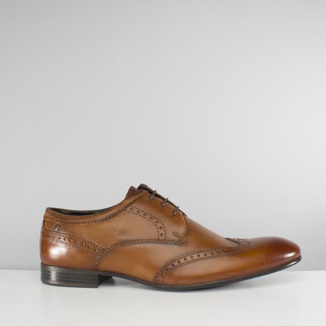 049e9563747bb Base London PURCELL Mens Leather Brogue Shoes Tan   Shuperb