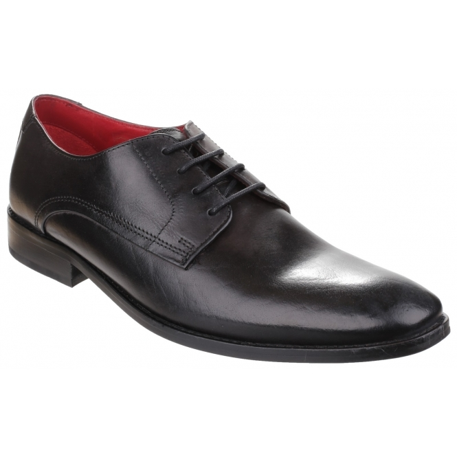 SUSSEX Mens Washed Leather Derby Shoes Grey